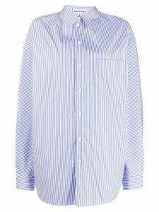 Balenciaga pulled striped shirt - White