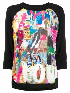 Ultràchic all-over print jumper - Black