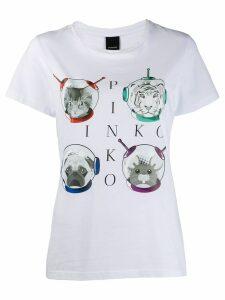 Pinko animal astronaut T-shirt - White