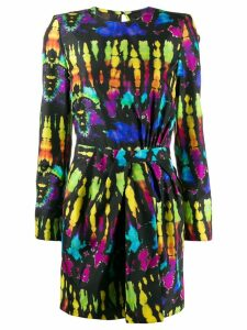 Dsquared2 tie-dye mini dress - Black