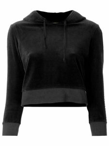 Juicy Couture cropped velvet hoodie - Black