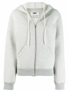 Mm6 Maison Margiela zip-up hoodie - Grey