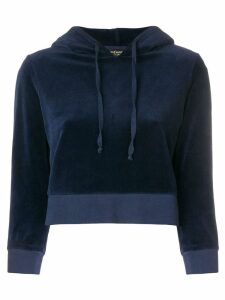 Juicy Couture cropped velvet hoodie - Blue