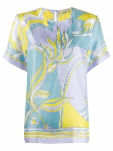 Emilio Pucci shortsleeved printed blouse - Yellow