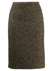 RedValentino chevron pencil skirt - NEUTRALS