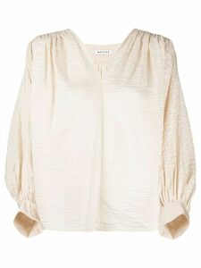 Masscob V-neck blouse - NEUTRALS