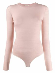 Forte Forte long-sleeve fitted top - Pink
