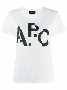A.P.C. logo print T-shirt - White