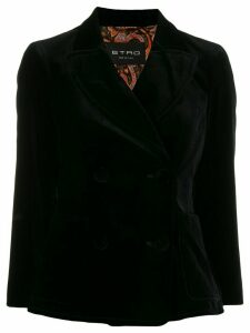 Etro double breasted jacket - Black