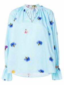 Natasha Zinko floral print blouse - Blue