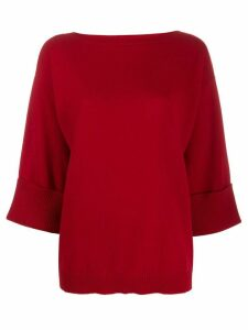 P.A.R.O.S.H. boat neck sweatshirt - Red