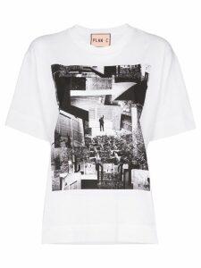 Plan C Placement photo print T-shirt - White
