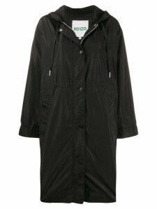 Kenzo logo hooded raincoat - Black