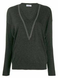 Brunello Cucinelli v-neck sweatshirt - Grey