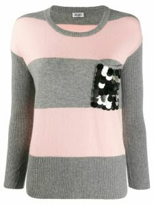 LIU JO fitted striped jumper - Grey
