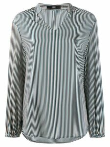 Steffen Schraut striped long-sleeved shirt - Blue