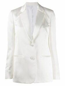 Helmut Lang two-button satin blazer - White