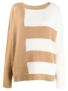 LIU JO striped knit jumper - NEUTRALS