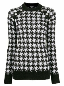 Balmain houndstooth knitted sweater - Black