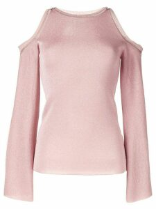 Peter Pilotto cold shoulder knit top - PINK