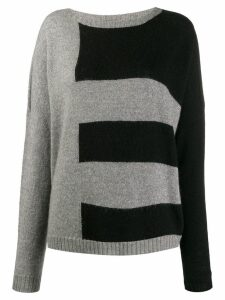 LIU JO striped knit jumper - Grey