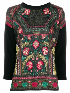 Etro all-over print jumper - Black