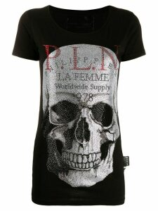 Philipp Plein crystal studded skull T-shirt - Black