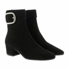 Coach Boots & Booties - Cassandra Buckle Bootie Suede Black - black - Boots & Booties for ladies