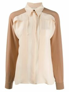 Alysi long-sleeved two-tone shirt - Neutrals