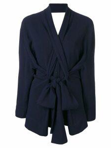 Henrik Vibskov wrap blouse - Blue
