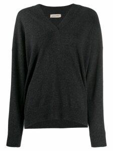 Gentry Portofino rhinestone-embellished pullover - Grey