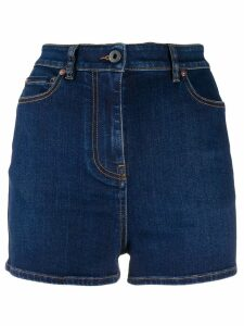 Valentino high waisted denim shorts - Blue