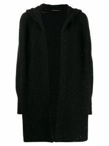 Luisa Cerano hooded wool cardigan - Black