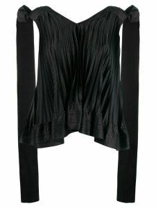 L'Autre Chose pleated design blouse - Black