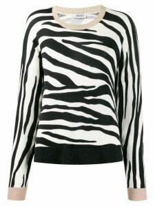 Liu Jo zebra print jumper - Black