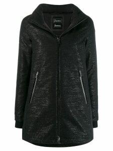 Herno zipped hooded raincoat - Black
