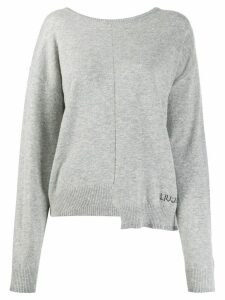 LIU JO high-low hem jumper - Grey