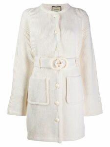 Gucci interlocking G belted cardi-coat - Neutrals