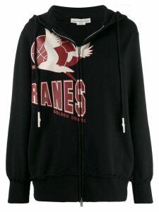 Golden Goose Cranes print hoodie - Black