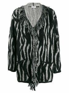 LIU JO fringe detail cardigan - Black