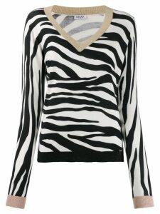 LIU JO zebra knit jumper - Black