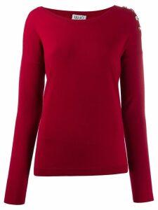 LIU JO round neck jumper - Red