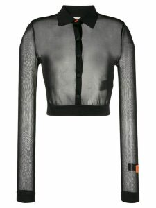 Heron Preston mesh knit shirt - Black