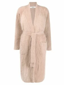 Roberto Collina long-line cardigan - NEUTRALS