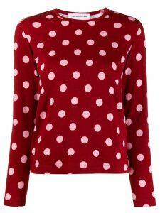 Comme Des Garçons Girl polka dot T-shirt - Red