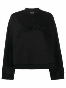 Emporio Armani embroidered logo sweatshirt - Black
