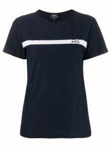 A.P.C. logo embroidered T-shirt - Blue