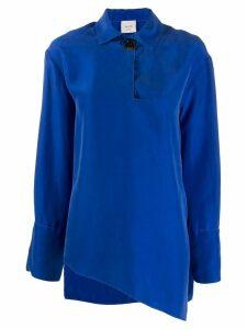 Alysi asymmetric hem blouse - Blue