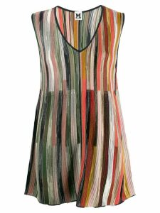 M Missoni knitted striped tunic - Black