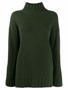 Gentry Portofino oversized mock neck jumper - Green